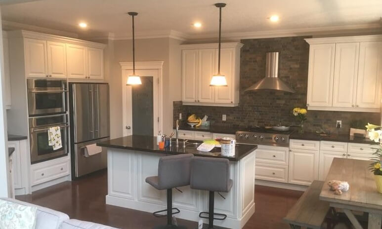 Cabinet Painters Calgary - New look cabinets